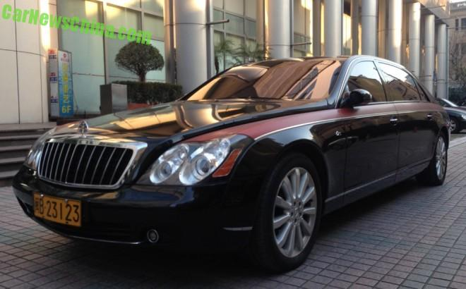 Spotted in China: Maybach 62S with a bit of Pink