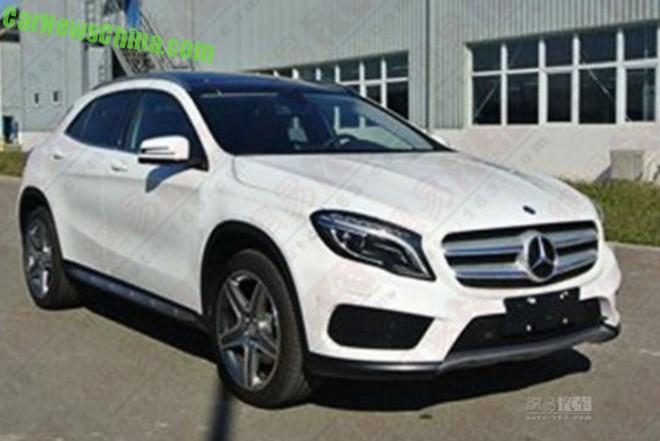 Spy Shots: China-made Mercedes-Benz GLA is almost Ready for the Chinese car market