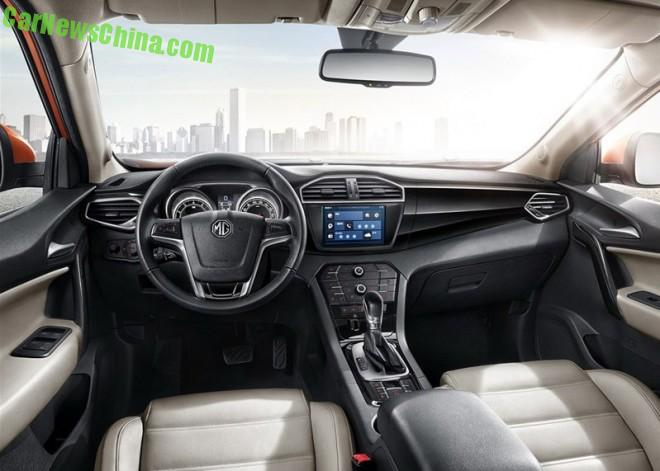 Officially Official: the interior of the new MG GS SUV for China