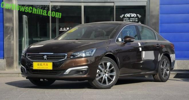 New Peugeot 508 launched on the Chinese auto market