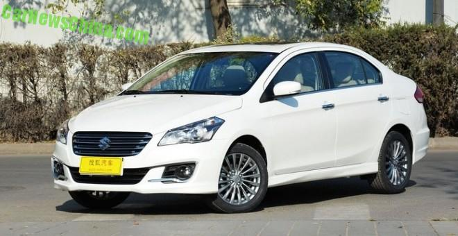 Suzuki Alivio launched on the Chinese car market