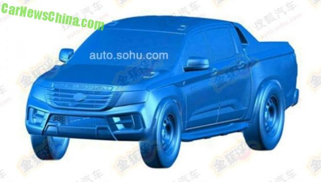 Patent Applied: this is the Weichai Auto Yingzhi P80 pickup truck for China