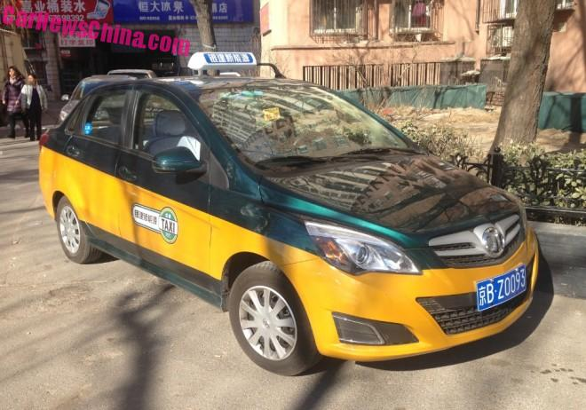 Spotted in China: the Beijing Auto Senova EV200 electric taxi