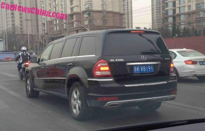 Spotted in China: Mercedes-Benz GL 450L is a stretched GL-Class