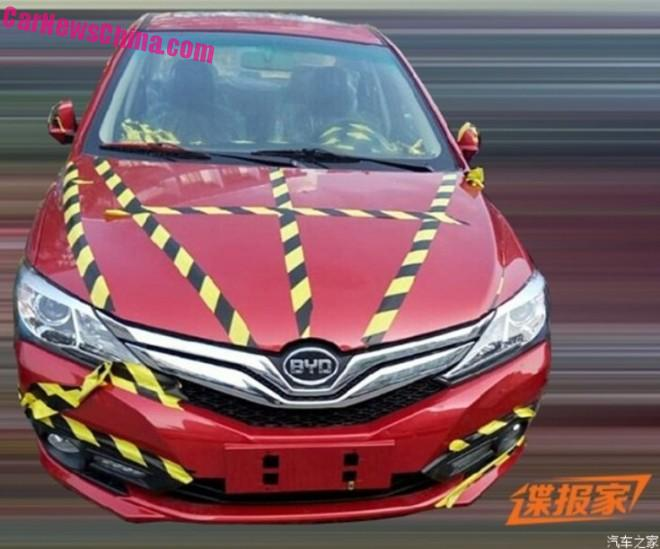 Spy Shots: facelifted BYD F3 is testing in China
