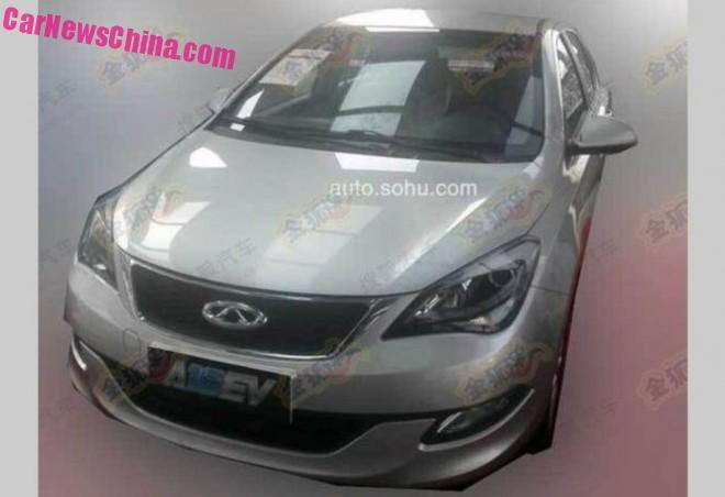 Spy Shots: Chery Arrizo 3 EV testing in China
