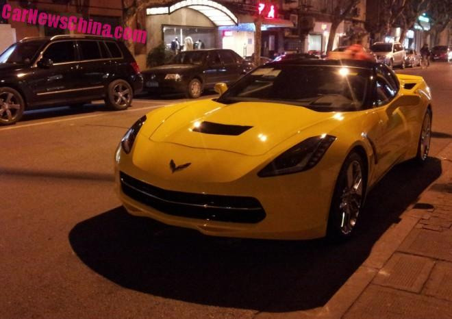 Chevrolet Corvette is Yellow in China