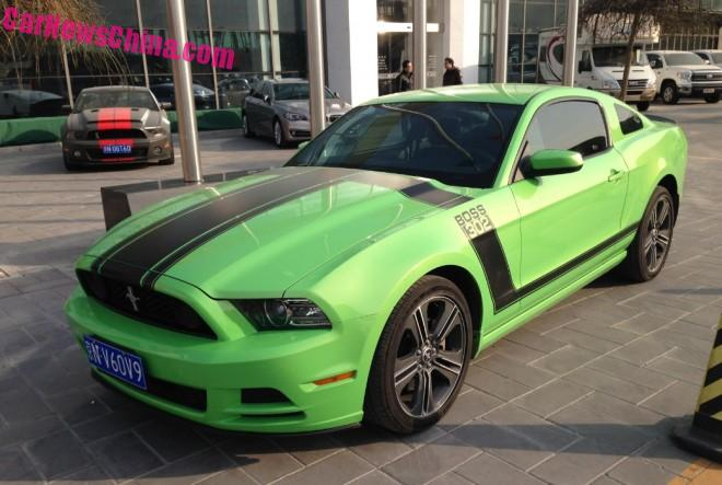 Spotted in China: Ford Mustang Boss 302 & a strange Shelby GT500
