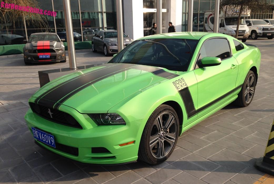 Spotted In China Ford Mustang Boss 302 A Strange Shelby Gt500