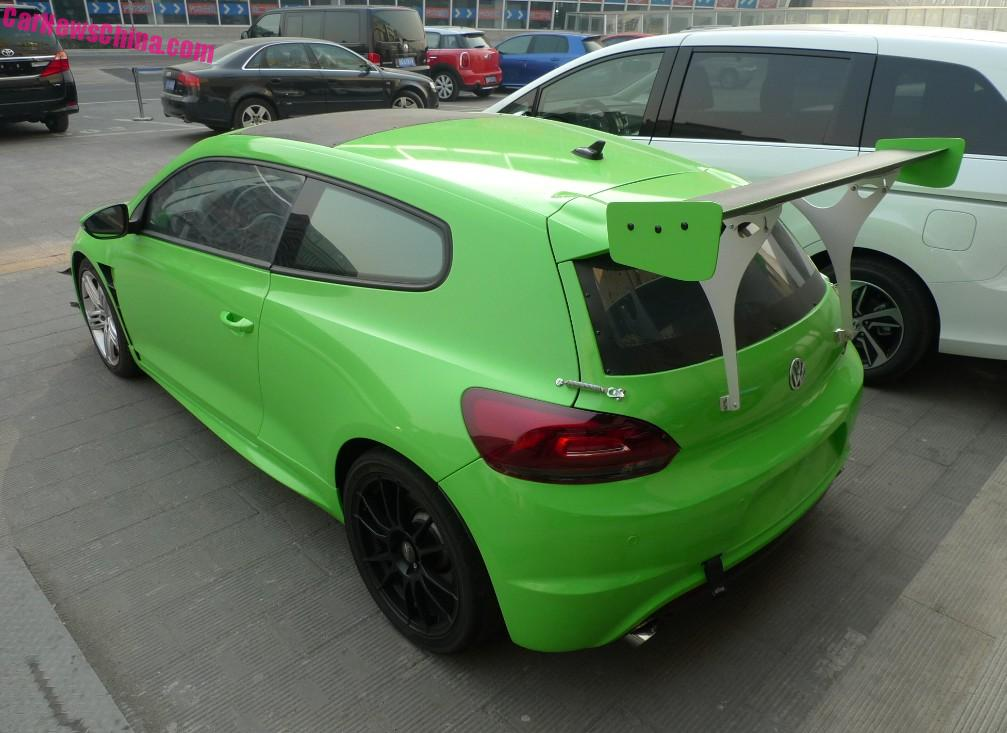 Volkswagen Scirocco R Is A Racy Green Frog In China