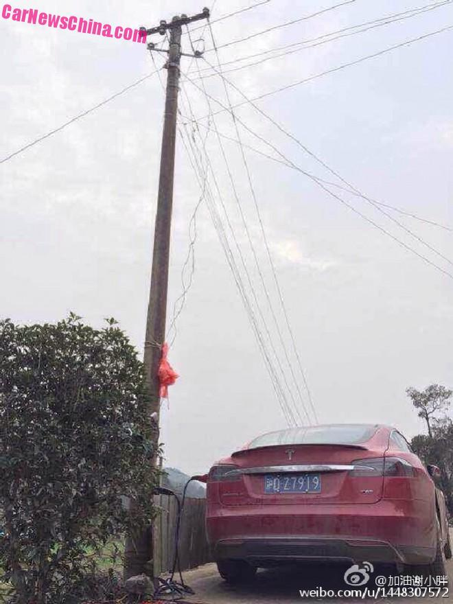 How to illegally charge a Tesla Model S in China