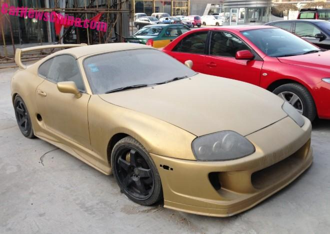 Spotted in China: MK IV Toyota Supra in matte Gold