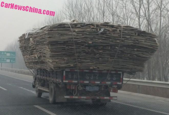 Two slightly overloaded Trucks in Beijing