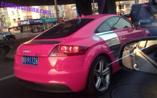 Audi TT is a Pink Audi R8 in China
