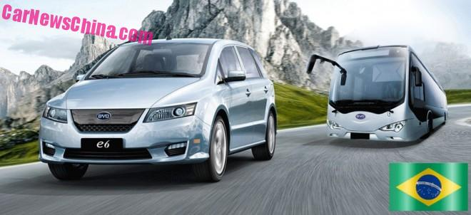 BYD to open passenger car Factory in Brazil