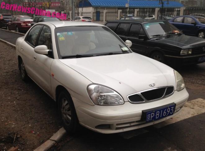 Spotted in China: Daewoo Nubira sedan