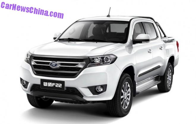 This is the new Foday Xiongshi F22 pickup truck for China