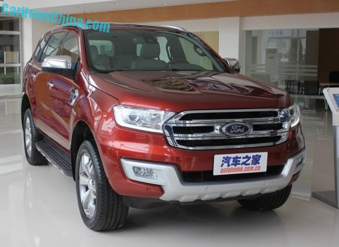 This is the Ford Everest SUV for China