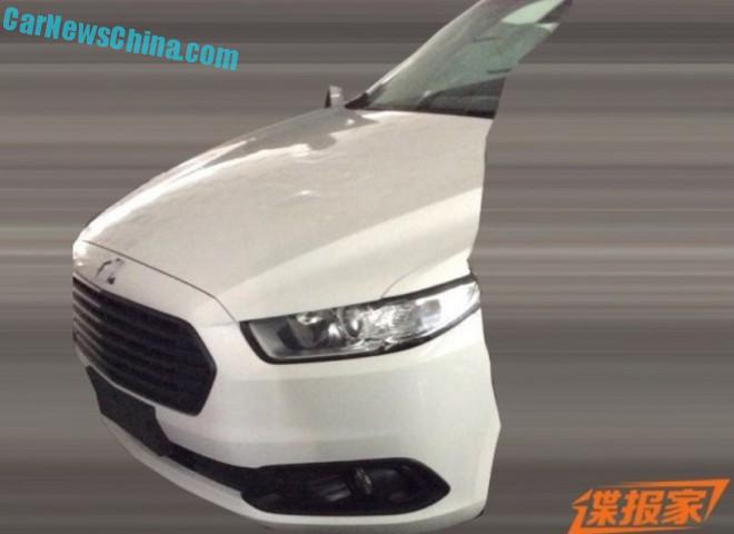 Spy Shots: facelifted Ford Fusion seen partly naked in China