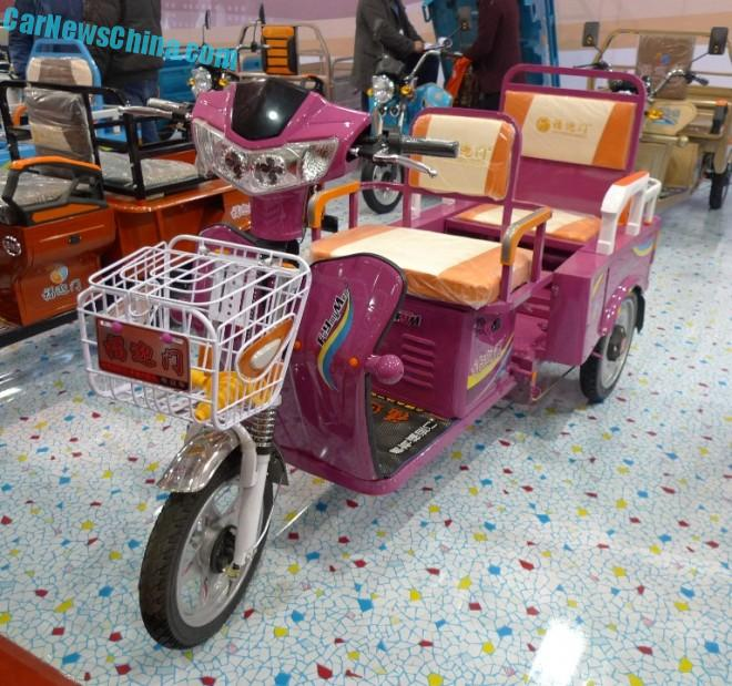 Shandong EV Expo in China: the Fuyingmen Yuedong 85, in pink