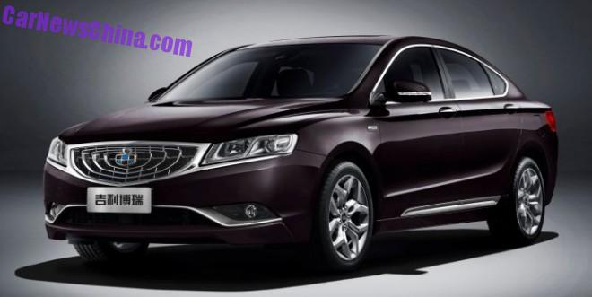 Geely Borui GC9 Limited Edition will launch in China on March 16