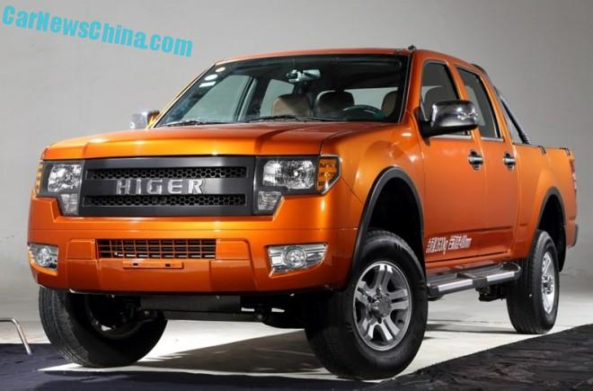 Higer Longwei pickup truck launched on the Chinese car market
