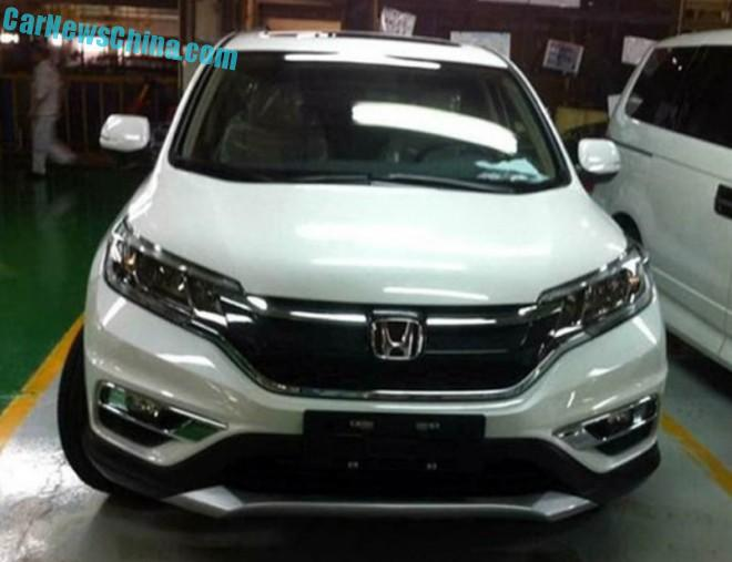 Spy Shots: facelifted Honda CR-V gains chrome in China