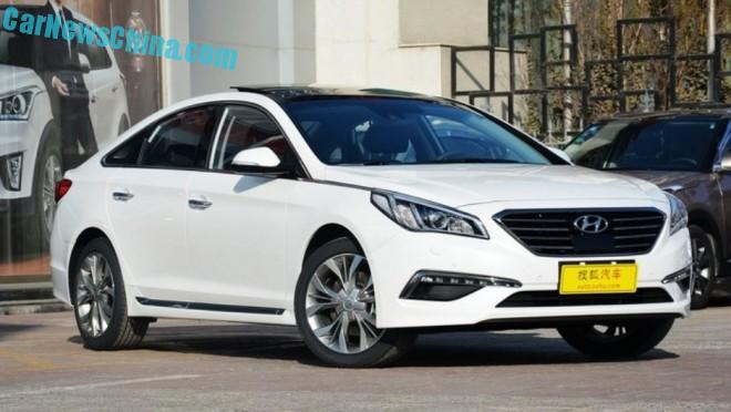 New Hyundai Sonata launched on the Chinese car market