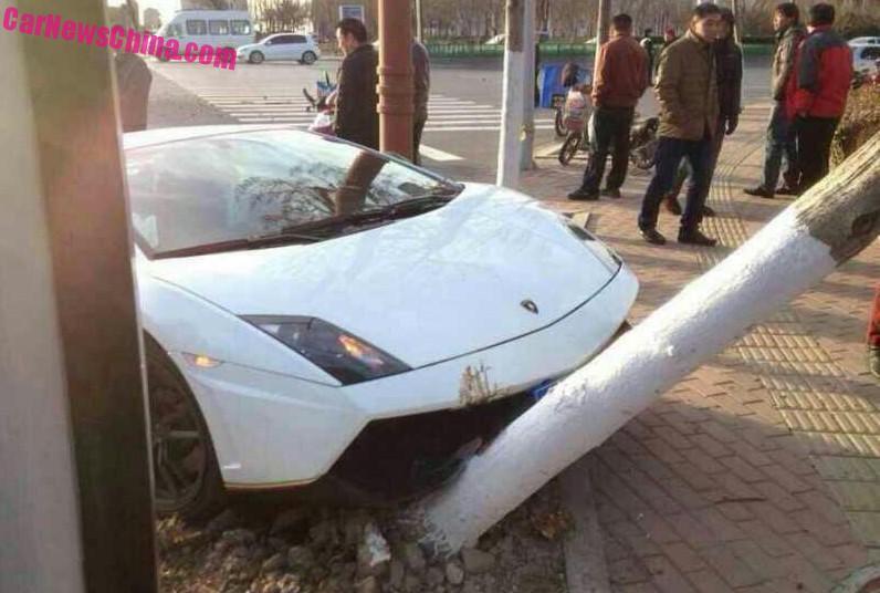 Lamborghini Gallardo Crash China Tro 2