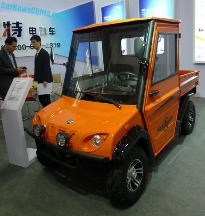 Shandong EV Expo in China: the Longrui Auto Utility Pickup Truck