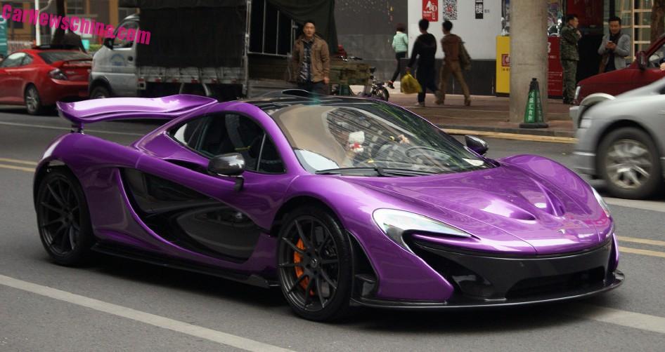 Orange And Black Mclaren P1 >> McLaren P1 is shiny Purple in China - CarNewsChina.com
