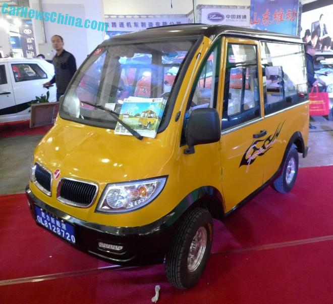 Shandong EV Expo in China: the Qianli Kele mini-mini bus