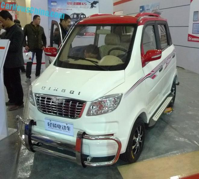 Shandong EV Expo in China: the Qingqi Shoe-i mini SUV