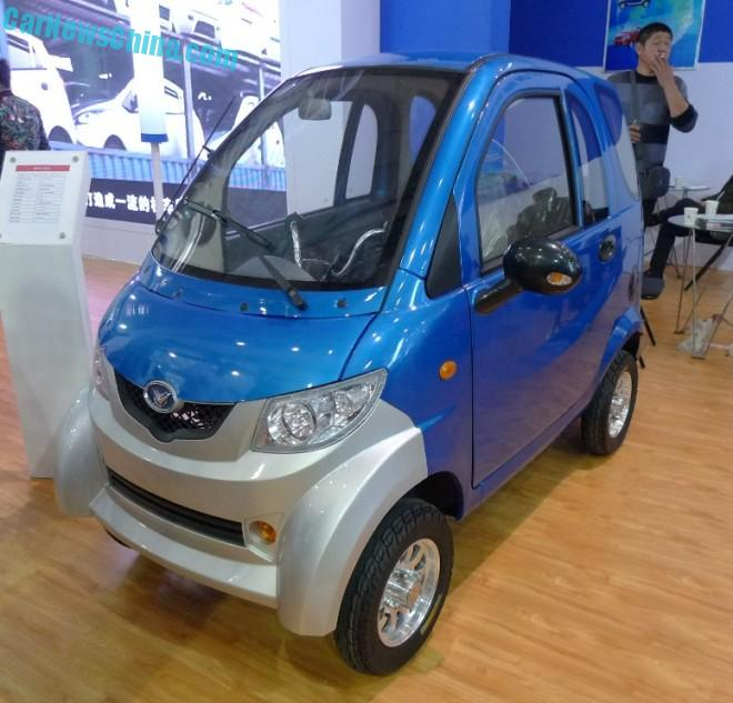 Shandong EV Expo in China:  the Mengde Microcar