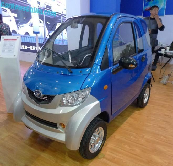 Shandong EV Expo in China:  the Mengde Microcar