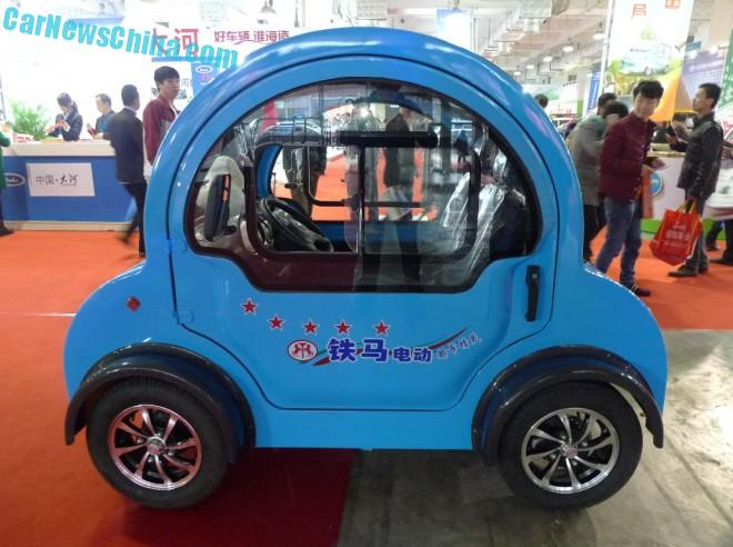 Shandong EV Expo in China: the Tiema Car Little Beetle EV