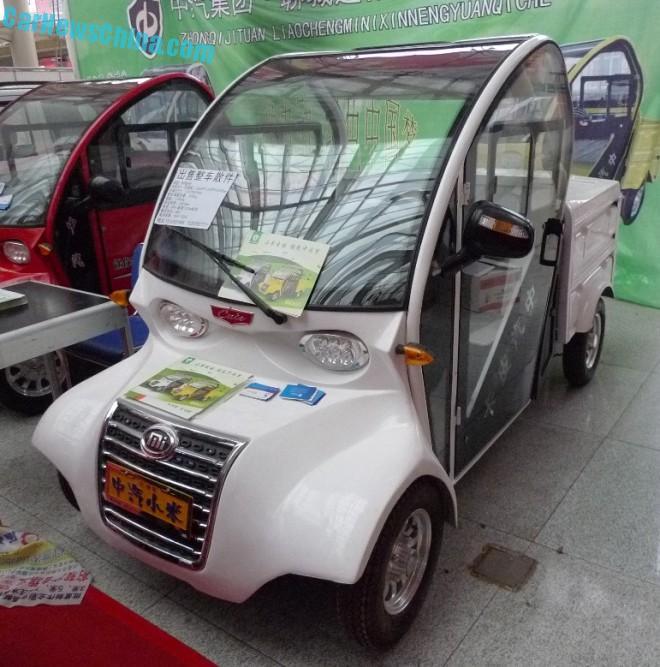 Shandong EV Expo in China: the Zhongqi Xiaomi Cute Pickup Truck