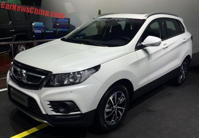 Beijing Auto Senova X55 SUV is Naked in Shanghai