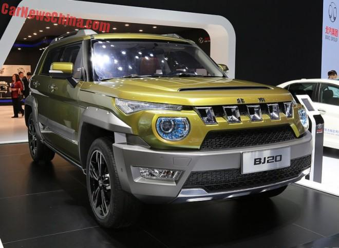 Beijing Auto BJ20 concept hits the Shanghai Auto Show