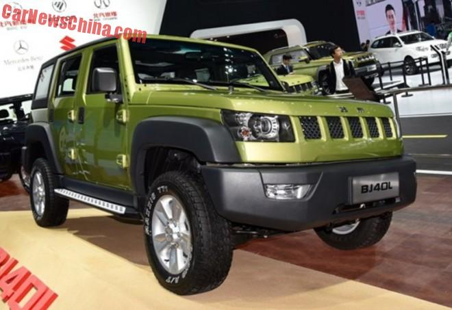 Beijing Auto BJ40L launched on the Shanghai Auto Show