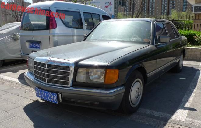 Spotted in China: W126 Mercedes-Benz 260 SE