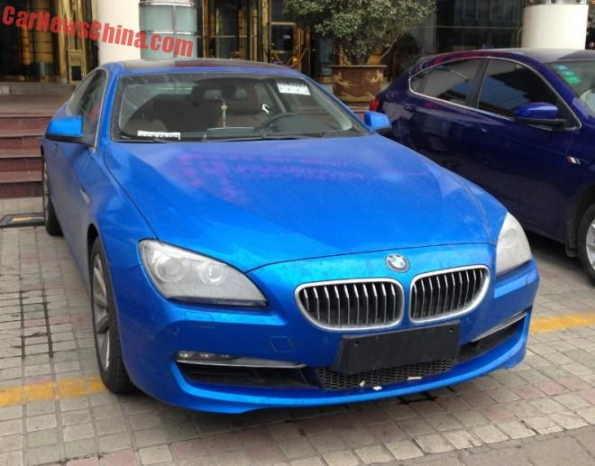 BMW 640i is shiny blue in China