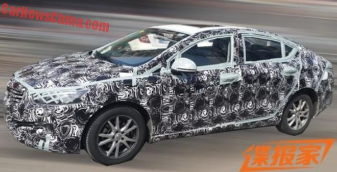 Spy Shots: new Brilliance BS4 testing in China
