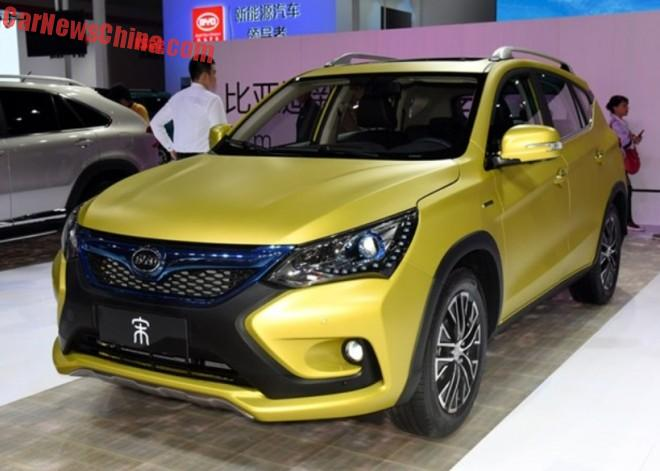 BYD Song SUV debuts on the Shanghai Auto Show in China