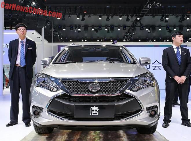 The BYD Tang super SUV says hello on the Shanghai Auto Show