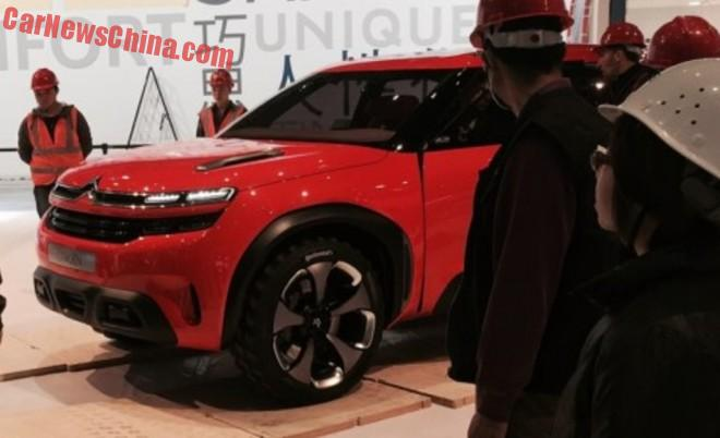 First Live Shots of the Citroen Aircross concept for the Shanghai Auto Show