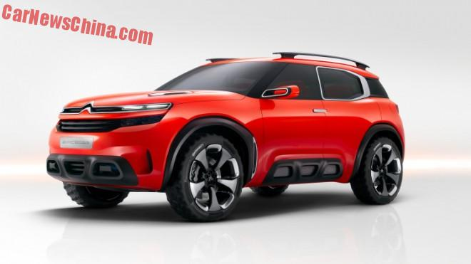 Citroen to launch the Aircross crossover concept on the Shanghai Auto Show