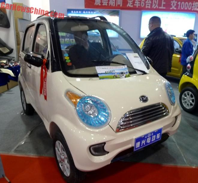 Shandong EV Expo in China: the Dexing Jinniu mini EV