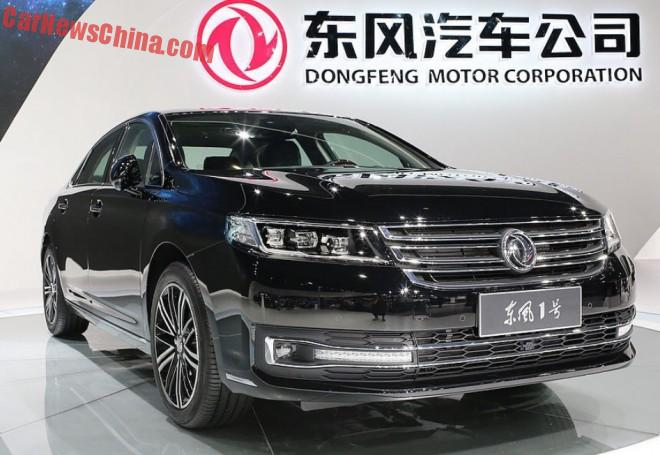 Dongfeng Number 1 sedan debuts on the Shanghai Auto Show in China