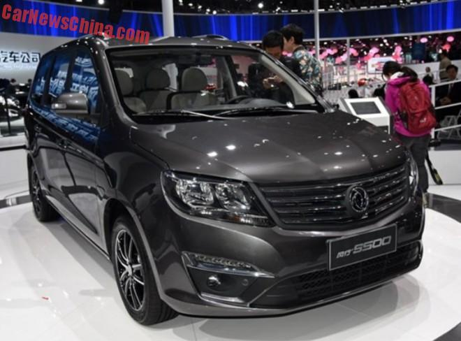 Dongfeng Fengxing S500 MPV launched on the Shanghai Auto Show